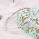 Sterling Silver Sisters Bond Message Bangle