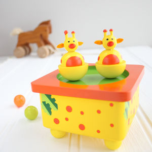 Giraffe Wooden Music Box - toys & games