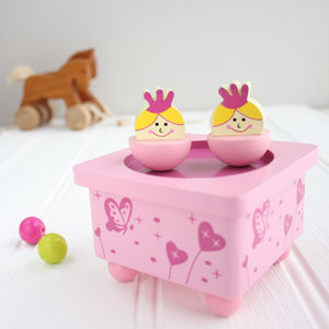 Princess Wooden Music Box
