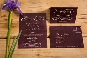 Gothic Map Wedding Invitations