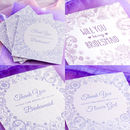 J & S Jewellery Bridesmaid Thank You cards