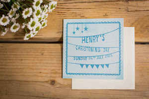 Baby's Star Christening/Annoucement Invitations