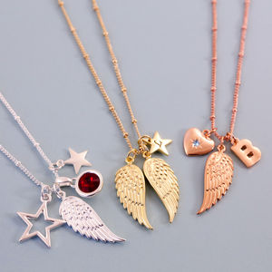 Design Your Own Angel Wing Necklace - personalised jewellery