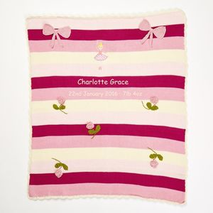 Personalised Ballerina Baby Blanket - baby & child sale