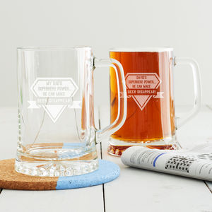 Personalised Superhero Beer Tankard - gifts for him