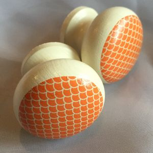 Orange Sunrise Mortice Door Or Drawer Knob - door knobs & handles