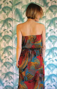 Flamenco Strapless Dress - summer clothing