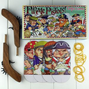 Pirate Pistols Target Game Rubber Band Shooting