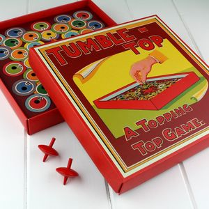 Tumble Top Vintage Spinning Top Game - board games & puzzles