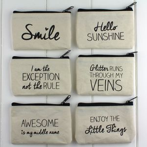 Handwritten Design Cotton Purse