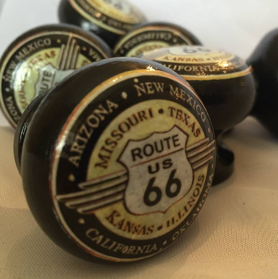 Surface Candy Route 66 Mortice Door Drawer Cupboard Knob