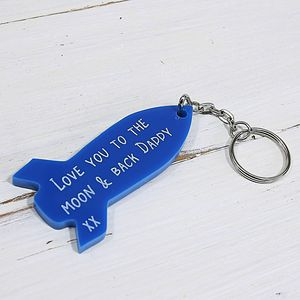 Personalised Rocket Keyring