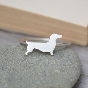 Dachshund Ring In Sterling Silver