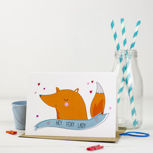 'Hey Foxy Lady' Card