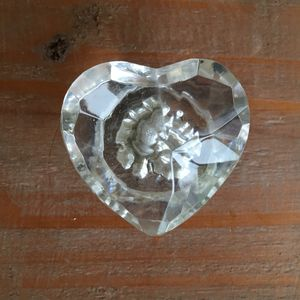 Drawer Knob Glass Heart - door knobs & handles