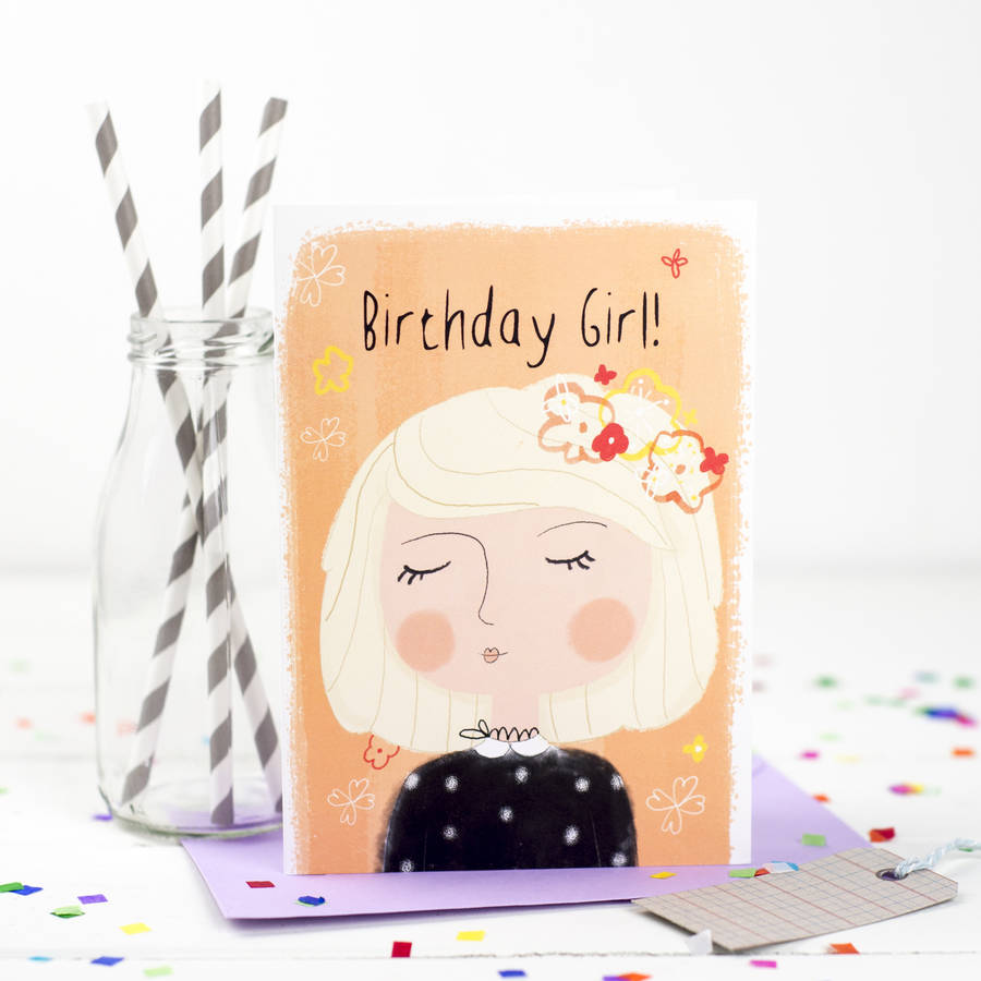 'Birthday Girl' Birthday Card