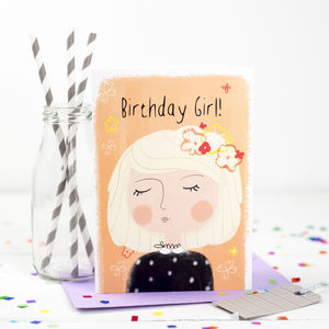 'Birthday Girl' Birthday Card - birthday cards