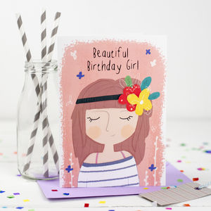 'Beautiful Birthday Girl' Card