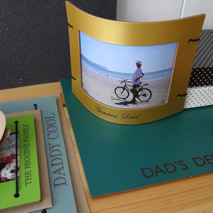 Engraved Leather Fathers Day Photo Frame