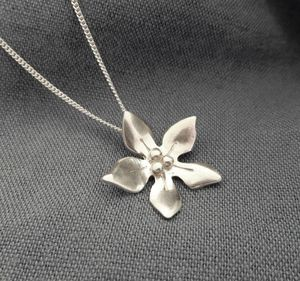 Silver Wildflower Pendant And Chain - children's jewellery