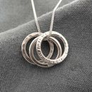 Polo Trio Silver Necklace