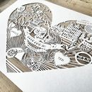 Personalised Love Heart Paper Cut