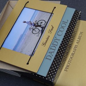 Personalised Fathers Day Photo Album And Frame