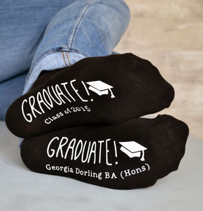 Personalised Graduation Socks - graduation gifts