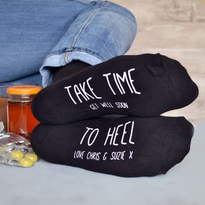 'Take Time to Heel' Get Well Soon Socks - get well soon cards