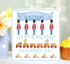 Personalised Boy's Birthday Card 'Toy Soilder' - birthday cards