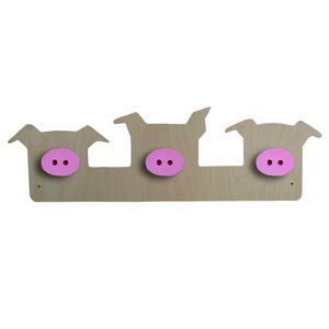 Three Little Pigs Clothes Peg