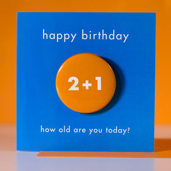Age 3 Birthday Badge Card
