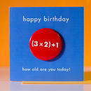 Age 7 Birthday Badge Card