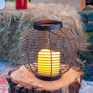 Metal Outdoor Battery Candle Lantern