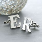 Personalised Alphabet Cufflinks - men's jewellery