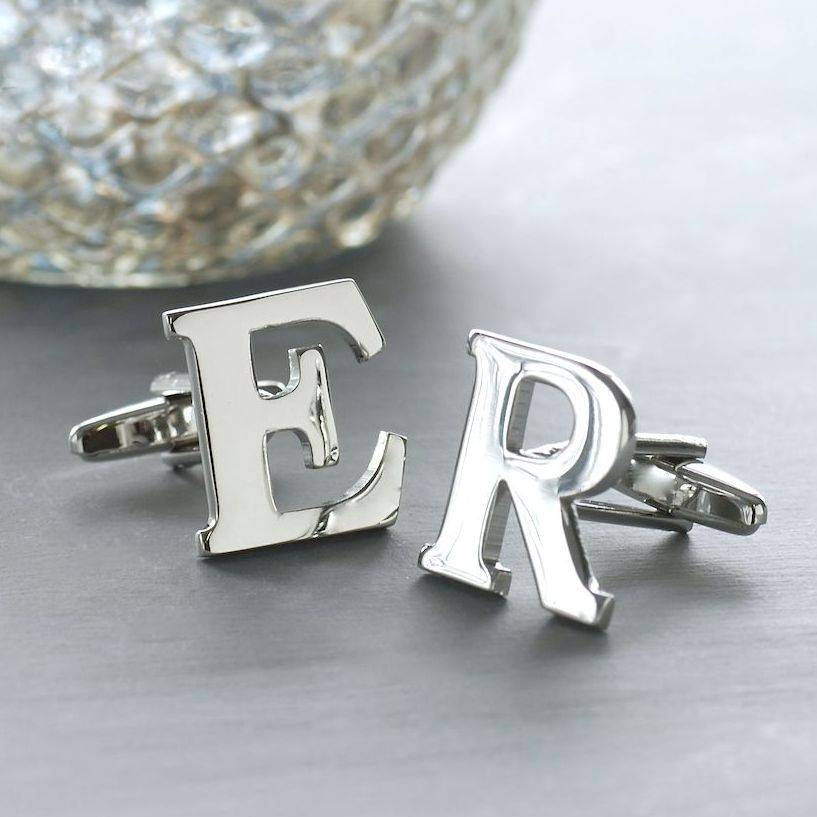 personalised alphabet cufflinks