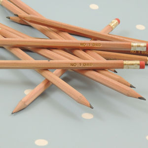 Father's Day Pencils Pre Stamped