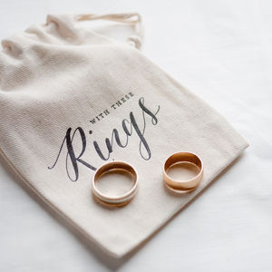 Calligraphy Wedding Ring Bag