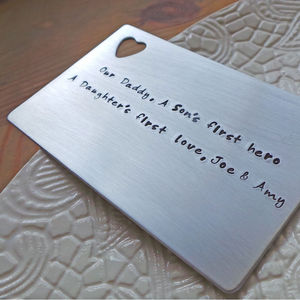 Personalised Message Wallet Insert - wallets & money clips