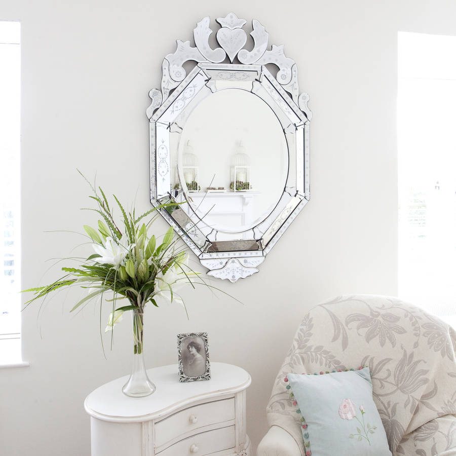Venetian Style Oval Mirror By Decorative Mirrors Online