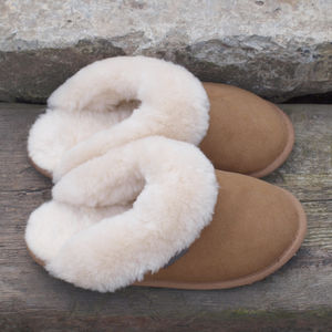 Ladies Sheepskin Slipper Mules - for keeping cosy