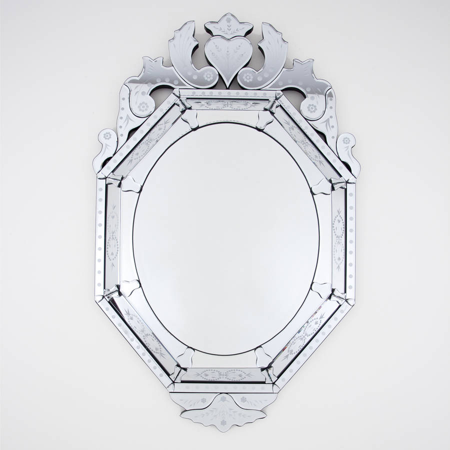 venetian style oval mirror by decorative mirrors online ...