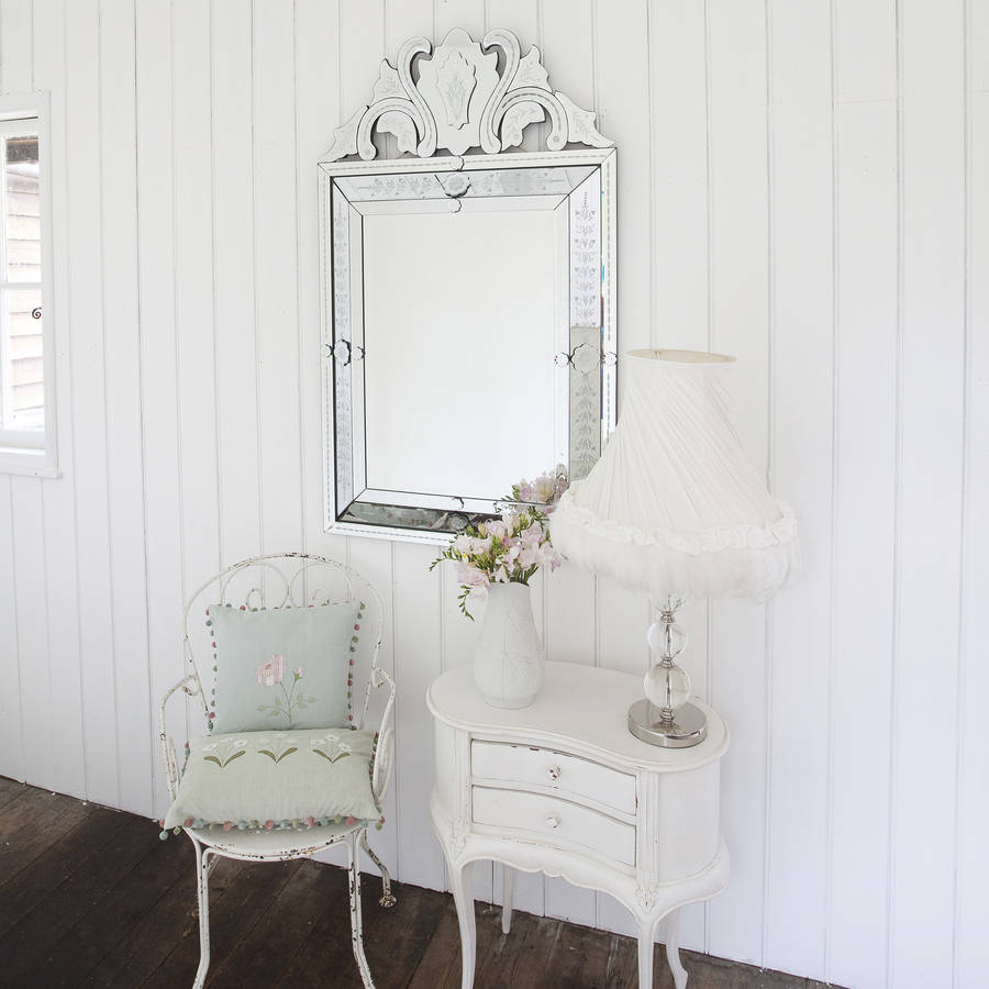 Embellished Venetian Style Mirror By Decorative Mirrors