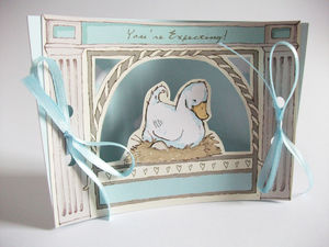 Mini Theatre 'You're Expecting' Card - new baby cards