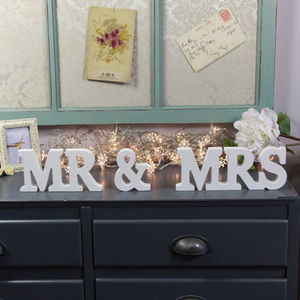 'Mr And Mrs' Letter Decoration