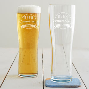 Personalised 'Beer Connoisseur' Pint Glass - tableware