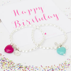 Ava Children's Personalised Heart Bracelet - flower girl jewellery