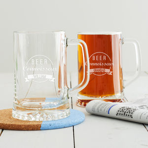 Personalised 'Beer Connoisseur' Tankard - gifts for him