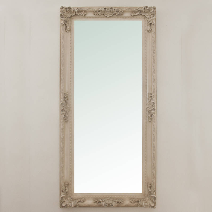 Adrianne ivory leaner mirror by decorative mirrors online for Leaner mirror