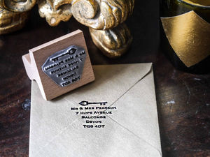 Address Stamp With Key - diy & craft